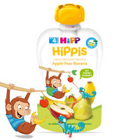 Piure de mere, pere și banane Hippis (4+ luni), 100g