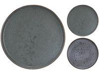 Farfurie de desert 21cm Granit, 2 culori, din ceramica