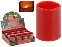 купить Свеча мерцающая 6.5X5cm, LED, с функцией таймера, красная в Кишинёве