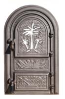 Ușă pentru sobă Palmier cu sticlă