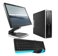 """PC Office Set #1 HP Elite 6200 SFF I5-2400 (QuadCore up to 3,3Ghz),4 GB DDR3,HDD 250 GB, DVD + Monitor 22"""" HP L2245W  LCD Black + Keyboard & Mouse A4Tech"""