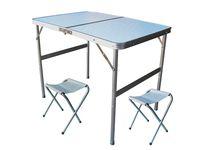 Стол раскладной 60X90X70cm +2стула металл, чемодан
