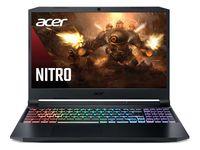 """ACER Nitro AN515-45 Shale Black (NH.QBCEU.00C) 15.6"""" FHD IPS 144Hz (AMD Ryzen 7 5800H 8xCore 3.2-4.4GHz, 16GB (2x8) DDR4 RAM, 512GB PCIe NVMe SSD+HDD Kit, GeForce RTX 3060 6GB GDDR6, WiFi6-AX/BT5, 4cell, HD Webcam, RUS, Nitrosence RGB, No OS, 2.2 kg)"""