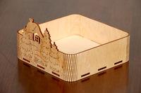 Подарочная коробка «донышко с домиком»