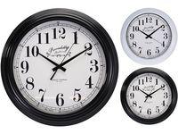 Часы настенные круглые 41cm, H9cm, металл, 2 цвета