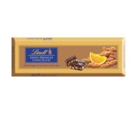 Горький шоколад с апельсинами и миндалем Lindt Gold, 300 гр.