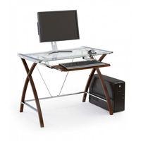 Офисный стол Halmar B-16, Brown/Transparent