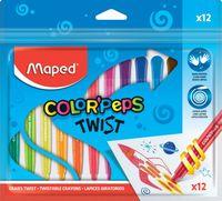 MAPED Карандаши восковые MAPED Twist, 12 цветов
