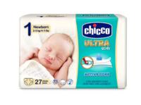 Chicco подгузники ultra soft 1, 2-5кг. 27шт