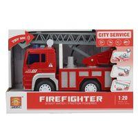 1:20 Инерционная Пожарная машина с водяной помпой (свет / звук)