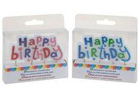 """Свеча-надпись """"Happy Birthday"""" 9cm"""