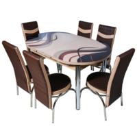 Овальный гарнитур 191 + 6 стульев