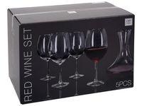 Set decanter si 4 pahare pentru vin rosu Atmosfera