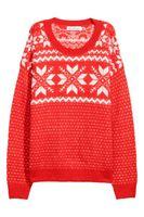Трикотаж H&M Красный с принтом