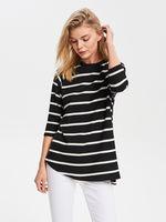 Блуза RESERVED Черный в полоску vl982-99x
