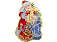 """купить Картинка-декор на окно/стену """"Дед Мороз и Снегурочка"""" 44.5cm в Кишинёве"""