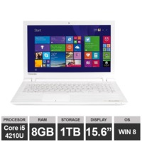 "Ноутбук Toshiba Satellite L50-B-1NX (15,6"" i5 4210U HDGraphics  8GB 1TB Win8) White"