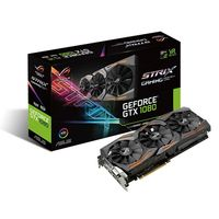 """VGA card PCI-E ASUS STRIX-GTX1080-A8G-GAMING NVIDIA GeForce GTX 1080, 8GB DDR5X, 256-bit, Gaming Mode 1670/1809MHz, OC Mode 1695/18351MHz, Memory 10010MHz, DVI-D,HDMI 2.0x2,DPx2, Power Connectors 1 x 6-pin, 1 x 8-pin, Aura RGB Lighting"""