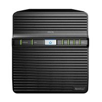"4-bay NAS Server  Synology DS416j, CPU Dual-Core 1.3 GHz, RAM 512MB, Internal HDD/SSD : 3.5"" or 2.5"" SATA(II) x4, USB 3.0 x1, USB 2.0 x1, LAN Gigabit x1; iOS/Android Applications, 24/7 Personal Cloud, HE Engine"