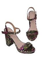 Sandale TOP SECRET Floral negru sbu0750
