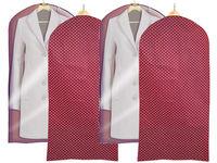 Чехол для одежды 60X135cm тканевый, бордо