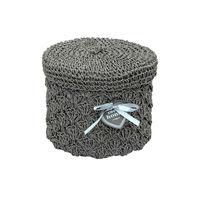 cumpără Coş rotund din textil 220x180 mm, gri în Chișinău