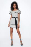 Платье ZARA Черно-белый 5598/224/093