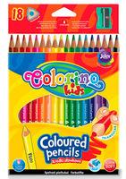 Цветные карандаши 18 цв. + точилка Colorino