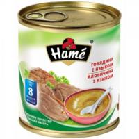 Hame пюре говядина и язык, 8+мес. 100г