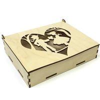 Шкатулка деревянная Мальчик и девочка, 160x125x35 см