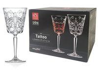 Set pocale pentru vin Tattoo 6buc, 290ml