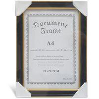 DOCUMENT Рамка для фото 409 A4 пластиковая черная/золото