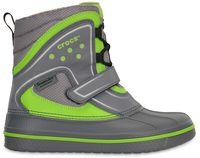 Kids' AllCast Waterproof Duck Boot (juniors') Charcoal / Volt Green
