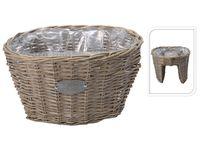 купить Кашпо для цветов плетеное на перила 44X34.5X24cm, овал в Кишинёве