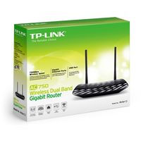cumpără TP-LINK  Archer C2,  AC750 Dual Band Wireless Gigabit Router, Mediatek+Realtek, 433Mbps at 5GHz + 300Mbps at 2.4GHz, 802.11ac/a/b/g/n, 1 Gigabit WAN + 4 Gigabit LAN, Wireless On/Off, 1 USB 2.0 port, 2 detachable antennas în Chișinău
