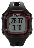 GARMIN Forerunner 10 Black and Red Stylish, Simple GPS Captures Every Mile, Tracks distance, pace and calories, Start running with the press a button, Identifies personal records
