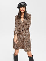 Rochie RESERVED Leopard vt723-98x