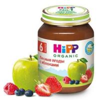 Hipp пюре лесные ягоды с яблоками 6+мес. 125г