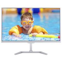 """23.6"""" Philips """"246E7QDSW"""", G.White (PLS 1920x1080, 5ms,250cd, LED20M:1, HDMI-MHL,DVI, Headphone-Out) (23.6"""" PLS W-LED, 1920x1080 Full-HD, 0.272mm, 15 ms (5ms GTG), 250 cd/m², DCR 20 Mln:1 (1000:1), 99% sRGB Color 16.7M, 178°/178° @C/R>10, 30-83 kHz(H)/56-76 Hz(V), HDMI-MHL + DVI-D + Analog D-Sub, HDMI Audio-In, Headphone-Out, External Power Adapter, Fixed Stand (Tilt -5/+20°), VESA Mount 100x100, Flicker-free, Elegant slim design, White-Glossy)"""