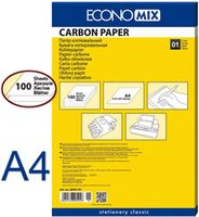 Копирка ECONOMIX A4, 100 листов, черная