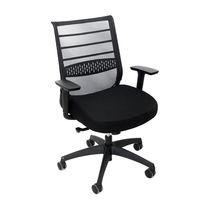 cumpără Scaun de birou cu spate din plasă neagră şi şezut negru în Chișinău