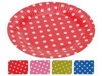 купить Набор тарелок одноразовых бумажных 8шт, D18cm в Кишинёве