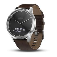 Фитнес-трекер Garmin vivomove HR Premium Silver Tone with Dark Brown Leather Band (Large)