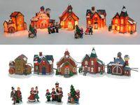 купить Набор рождественский: 5 домиков с подстветкой+4 фигурки в Кишинёве