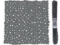 Коврик для душа 53X53cm MSV Galets черный, PVC