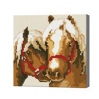 Пара лошадей, 20x20 см, алмазная мозаика
