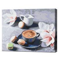 Cafeaua și orhideea, 40х50 cm, pictură pe numere  BS34316