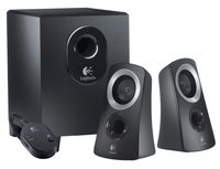 Speaker Logitech z213 ,2.1/7w rms,wired RC ,Black