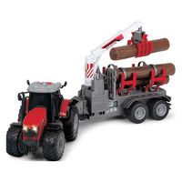 Dickie Tractor cu remorcă şi  lumină 42 cm