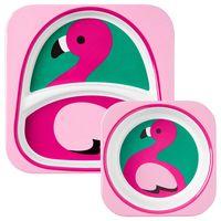 Набор Skip Hop Zoo Тарелка и миска Flamingo